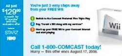 Comcast offering Wiis to new subscribers