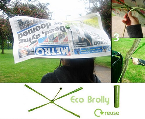 Eco Brolly: Ultimate emergency umbrella