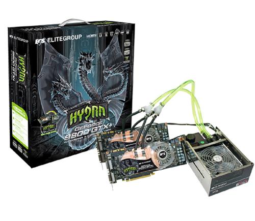 ECS GeForce 9800 GTX+ Hydra Pack