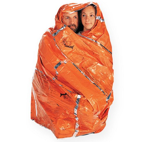 Heatsheets Survival Blanket, bright orange cocoon