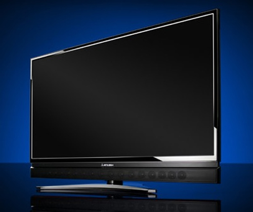 Mitsubishi Premium Flat Panel TV with Integrated Sound Projector