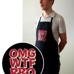 OMG WTF BBQ apron perfect for geeky cookouts