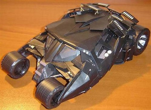 Paper-craft Batmobile Tumbler from The Dark Knight