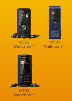 Sony Ericsson New Walkman Mobiles