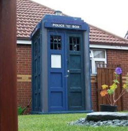 The Tardis shed: Where Timelords keep lawn mowers