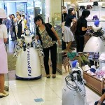 Remote control robot shops for the elderly