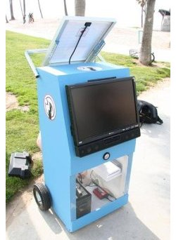 Solar-powered Wii station for outdoor play