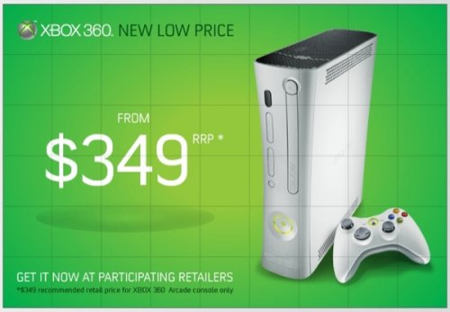 Xbox 360 price cut in Australia