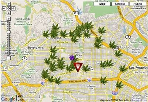 Pot Locator uses Google Maps to find weed