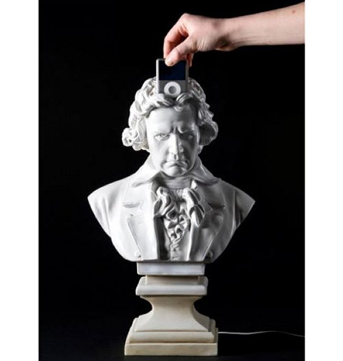 Dock your iPod in Beethoven's head