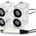 Crystal USB speakers for your desktop