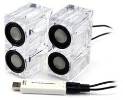 Crystal USB speakers for your desktop