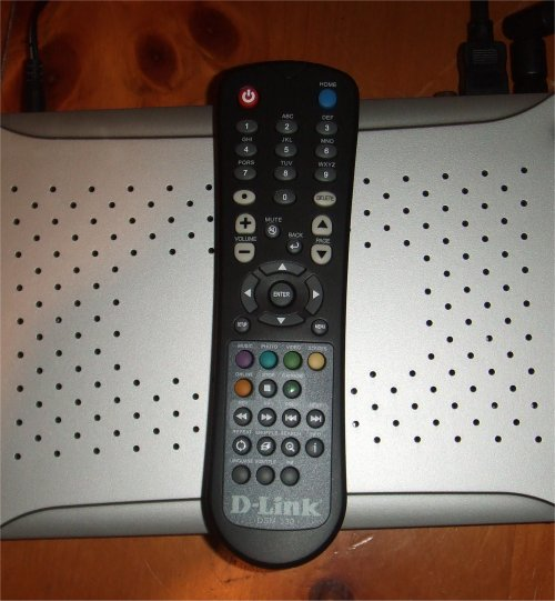 Remote Control for the D-Link DivX wireless HD media player