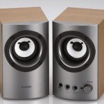 Elecom MS-130 wood speakers