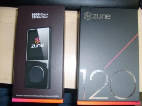 120gb and 16gb Zune spotted