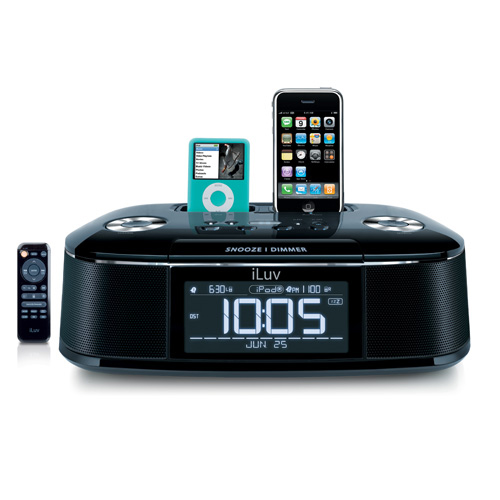 the folks at iluv announced today a rather cool looking new dual dock alarm clock which works with the iphone 3g itu0027s called the imm173 and it prices
