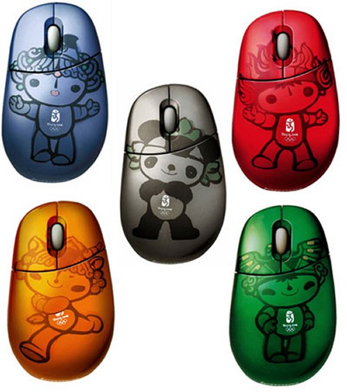 Beijing Olympics Fuwa mascot mice