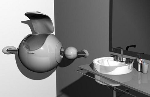 The Sfera spherical washing machine