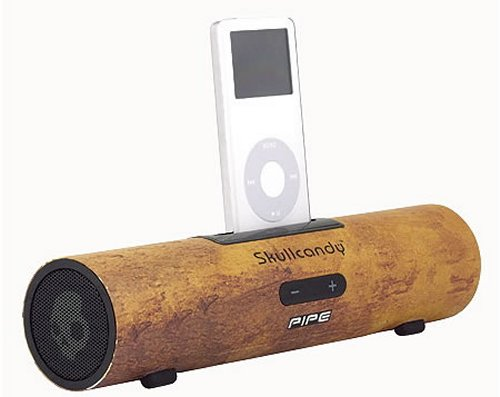 Skullcandy Pipe iPod/iPhone dock looks like a sawed off bone