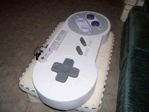 Four-foot SNES controller works