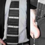 Solar powered necktie combines business with geek