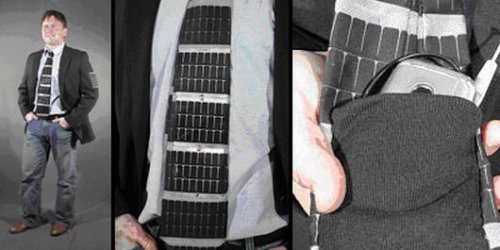 Solar powered necktie combines business with geek