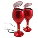 USB Wine Glass speakers