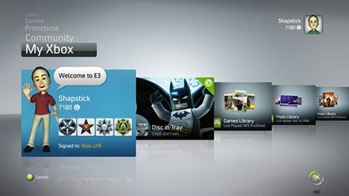 Xbox 360 dashboard update in November
