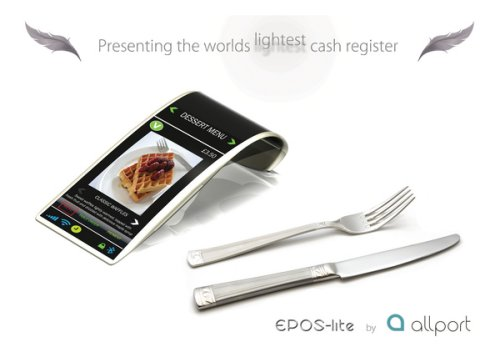 EPOS-lite: Touch interface cash register and built-in menu
