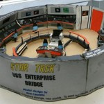 Guy builds Star Trek Enterprise from Rice Krispies boxes