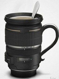 Zoom lens mug for caffeinated photographers