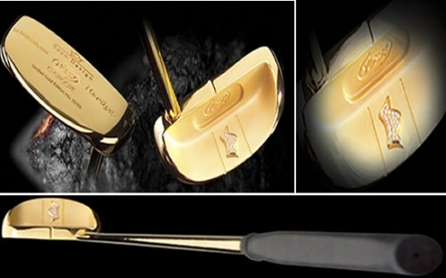 Limited edition gold putter for Golfer showoffs