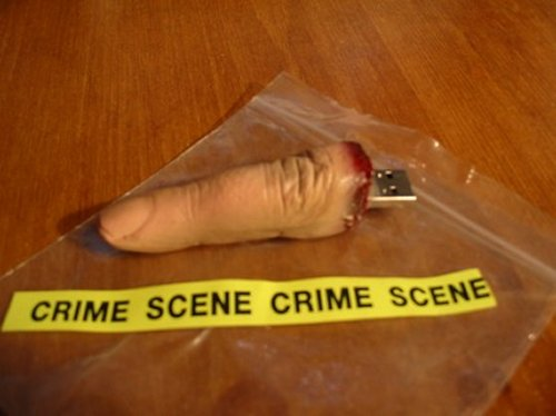 USB Flash Drive Finger fresh from crime scene