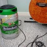DIY Heineken Draught Keg guitar amplifier