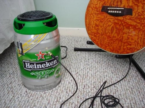 DIY Heineken Draught Keg guitar amplifier