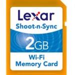 Lexar announces Shoot-n-Sync Wi-Fi SD card
