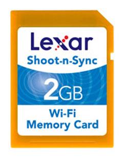 Lexar Shoot-n-Sync SD Card