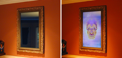 Magic Message Mirror home security system