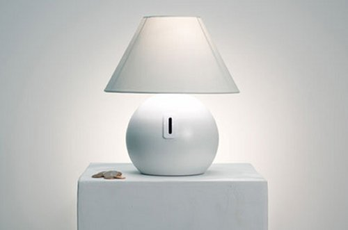 The Coin Lamp will give you light, for a price