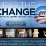 Obama supporters get USB bracelets