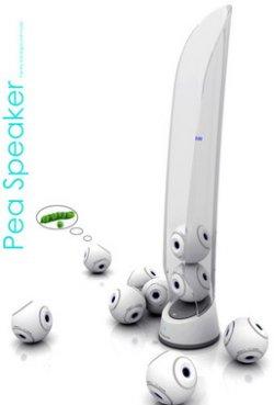 Pea Speaker concept has Bluetooth balls
