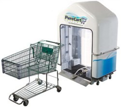 PureCart sanitizes shopping carts