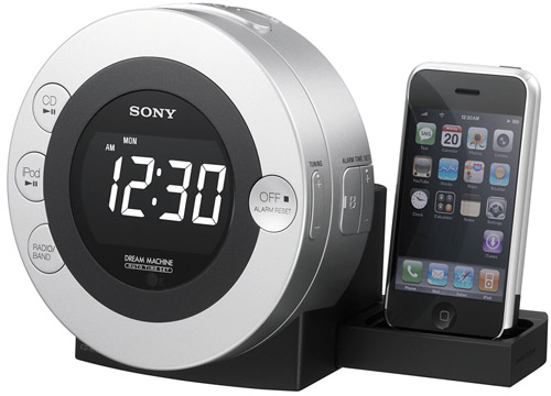 Sony's ICF-CD3iP iPod/iPhone dock & clock radio