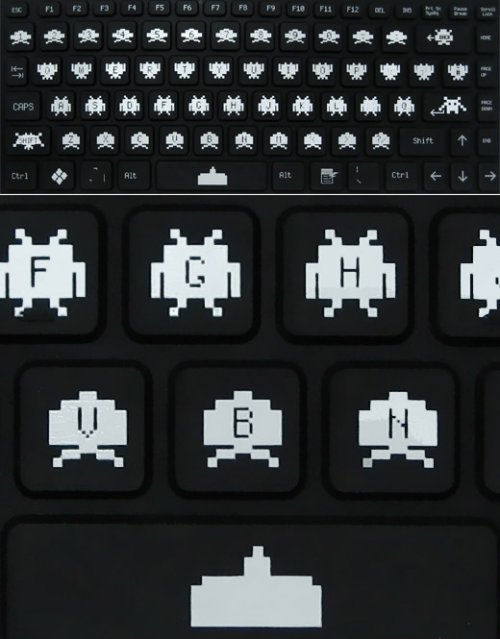 Space Invaders bendable keyboard