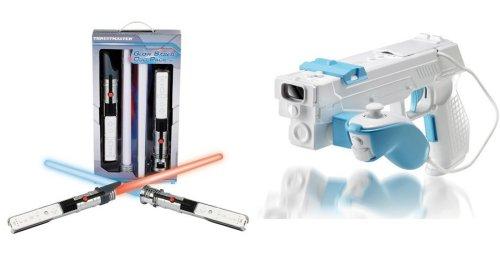 Thrustmaster Wii Glow Saber, Dual Trigger Gun accessories