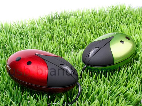 USB Ladybug mouse is cute, clickable