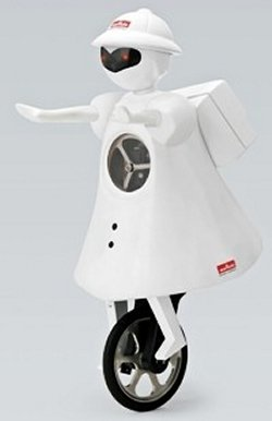 Murata's new balancing robot gets feminine, rides a unicycle
