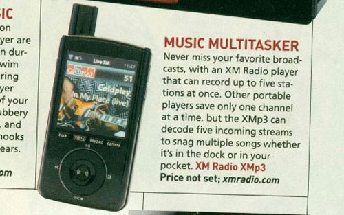 XM's XMp3 gives you multi-station recording