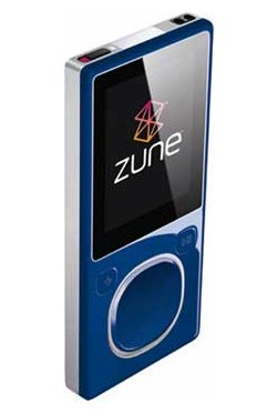 Blue 8GB Zune spotted, new features