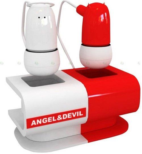 Angel & Devil earphones wage a constant war between your ears